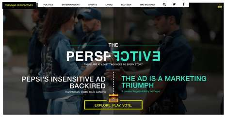 Current Affairs Website The Perspective Endeavors to Open Minds     This current affairs website hopes to address the so-called 'echo chamber' created by online media. Based in the United States, The...