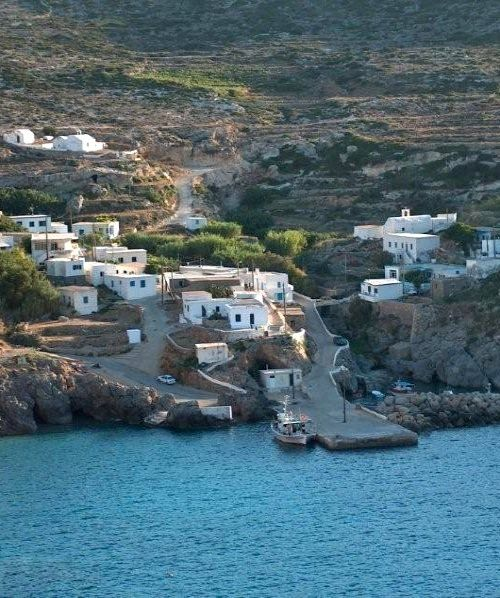 Potamos village, Antikythera Island, Greece