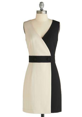 :): Black White Dresses, Black And White, Retro Vintage Dresses, Dresses More, Black Dress, Dresses Love, Work Dresses, 65 Modcloth