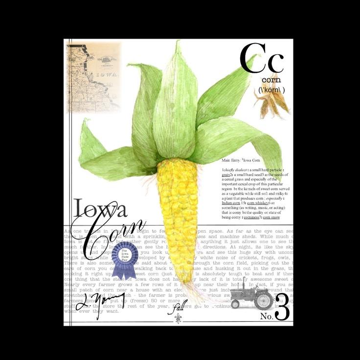 Iowa Corn on Canvas: Community Favorites, Corny Likes, Iowa Corn, Canvas