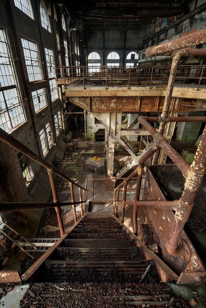 Interior. Abandoned Market St. Power Plant, New Orleans