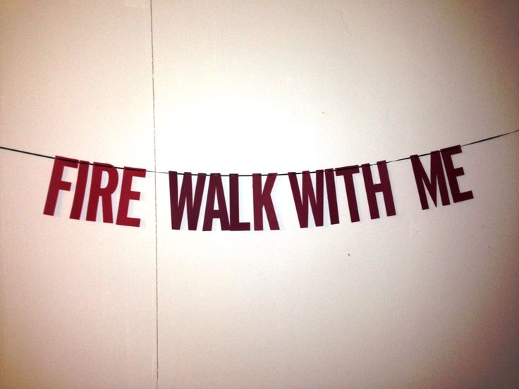Twin Peaks Fire Walk With Me Banner by ThePatchriarchy on Etsy https://www.etsy.com/listing/177234565/twin-peaks-fire-walk-with-me-banner