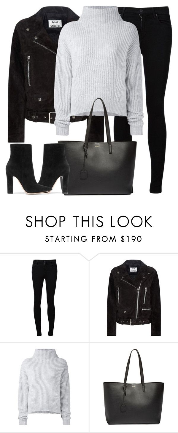 """""""Untitled #2968"""" by elenaday ❤ liked on Polyvore featuring Citizens of Humanity, Acne Studios, Le Kasha, Yves Saint Laurent and Gianvito Rossi"""