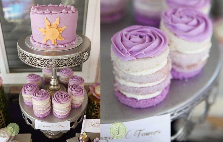 Disney Party Inspirations: Desserts - Rapunzel's cake with sun symbol