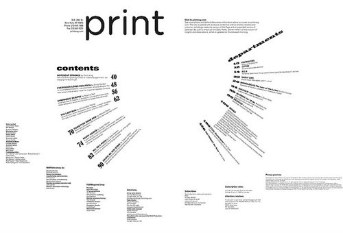 table of contents page inspiration