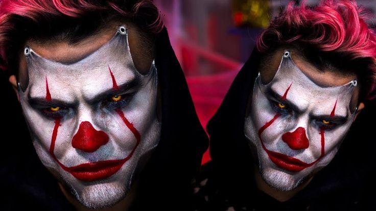IT 2017 - Pennywise Halloween Makeup Tutorial