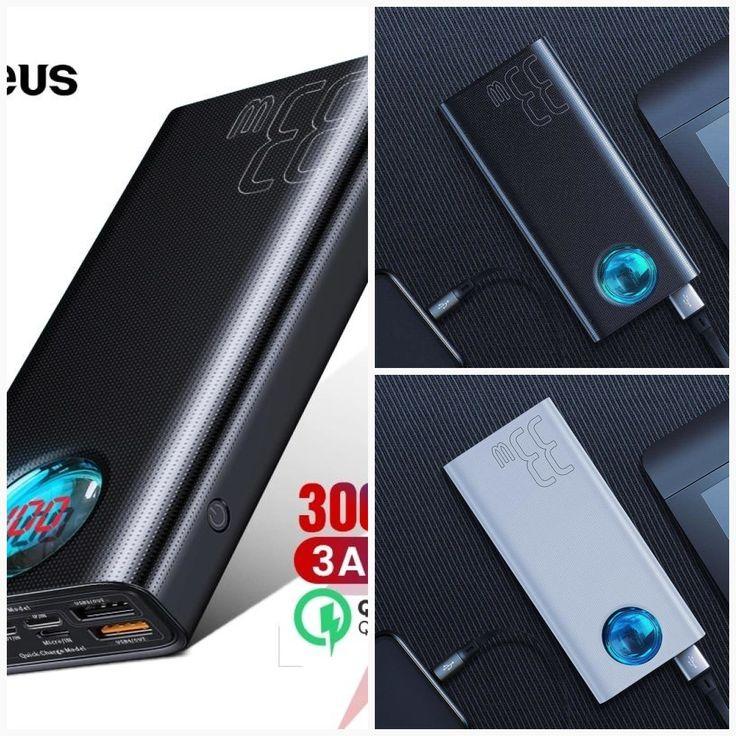 Baseus 30000mah power bank usb c pd 30 fast charging