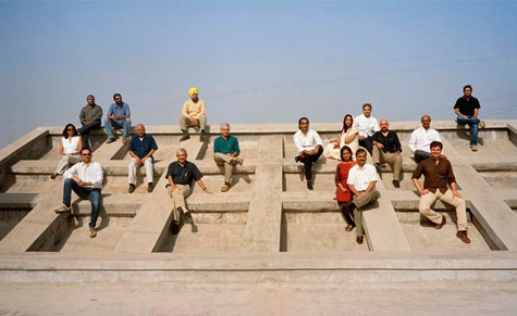 We assembled some of Indias best architects, young and established, on the roof terrace of Le Corbusiers Mill Owners Association Building in Ahmedabad. Photography: Gauri Gill