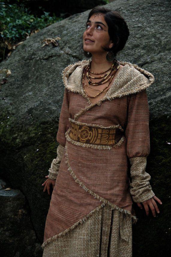 Frauen lange Wolle und handgewebte Khadi Baumwolle wickeln Jacke natürliche kuschelige Öko-erdig
