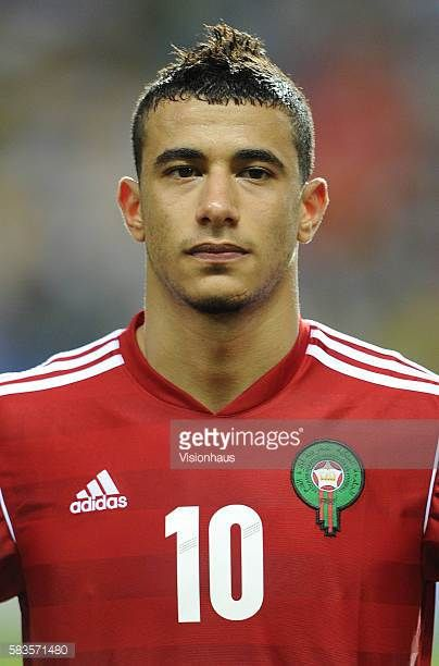 Younes Belhanda of Morocco during the 2012 African Cup of Nations Group C match between Morocco and Tunisa at the Stade de l'Amitie in Libreville...