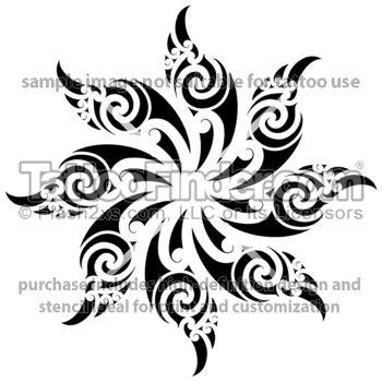 TattooFinder.com: Maori Sun tattoo design by Wiremu Barriball, one of many authentic Maori tattoos by artist from New Zealand