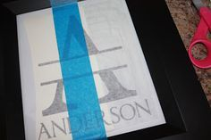 How to apply vinyl lettering | Thoughts in Vinyl