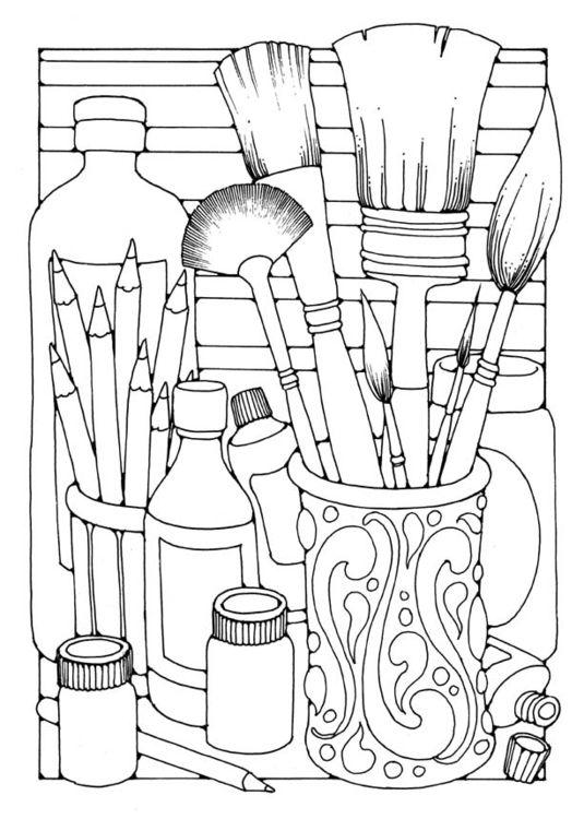Dibujo para colorear Pinceles