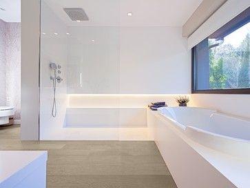 suelo #tarima madera #hakwood en cuarto de baño #tarimasdeautor