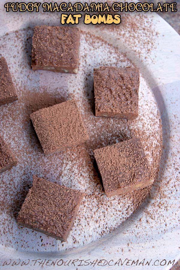 Fudgy Macadamia Chocolate Fat Bombs By The Nourished Caveman 3