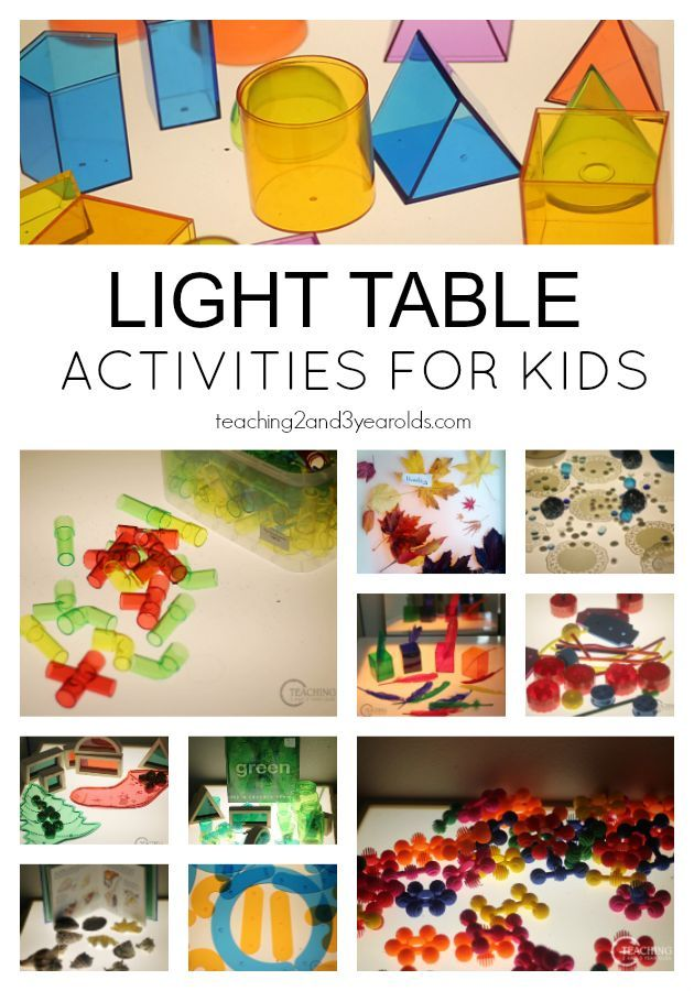 Fun Light Table Activities for Toddlers and Preschoolers - A great way to explore color while building fine motor skills! From Teaching 2 and 3 Year Olds