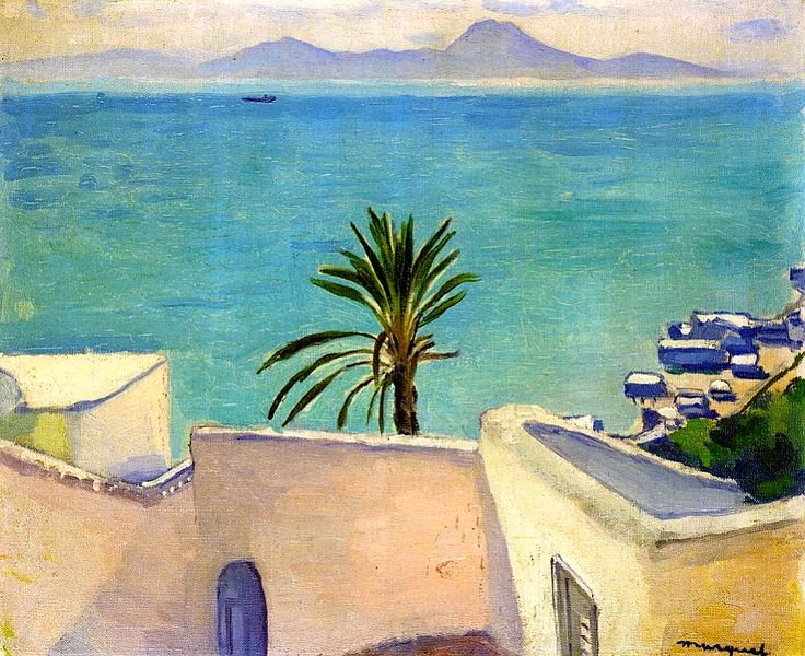 Sidi Bou Said, Palm Tree / Albert Marquet - circa 1923