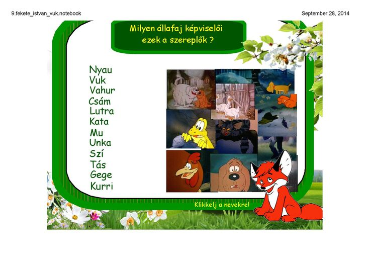 Fekete István: Vuk olvasónapló, digitális tananyag   PDF to Flipbook