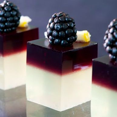 Blackberry Gin Sour Jello Shots | MyThirtySpot Just need to find a 'clean' sub for grape jello powder