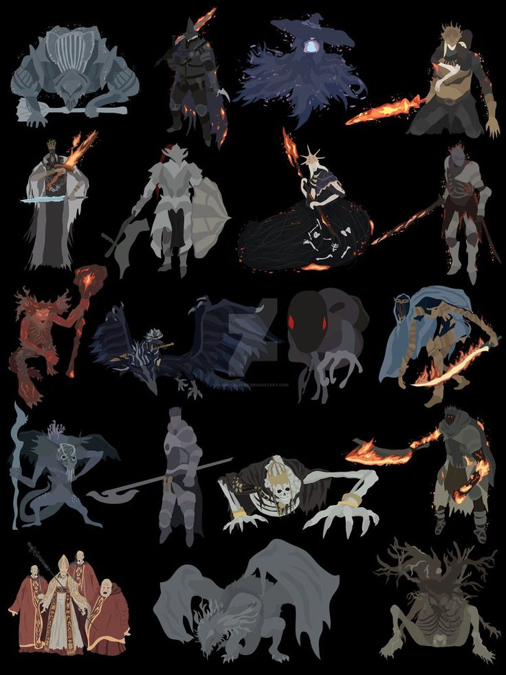 All the bosses of the game in minimalist style. I hope you like it. Compared to my Dark Souls bosses this one is quite more detailed, let me know which style you prefer! I have this ready fro...