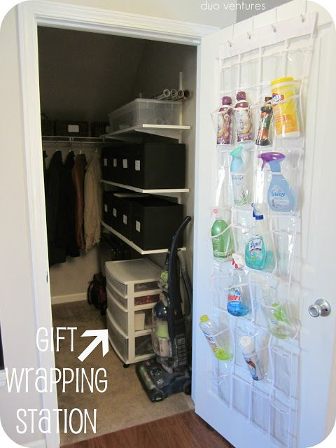 Duo Ventures: Organizing: The Closet under the stairs in the basement