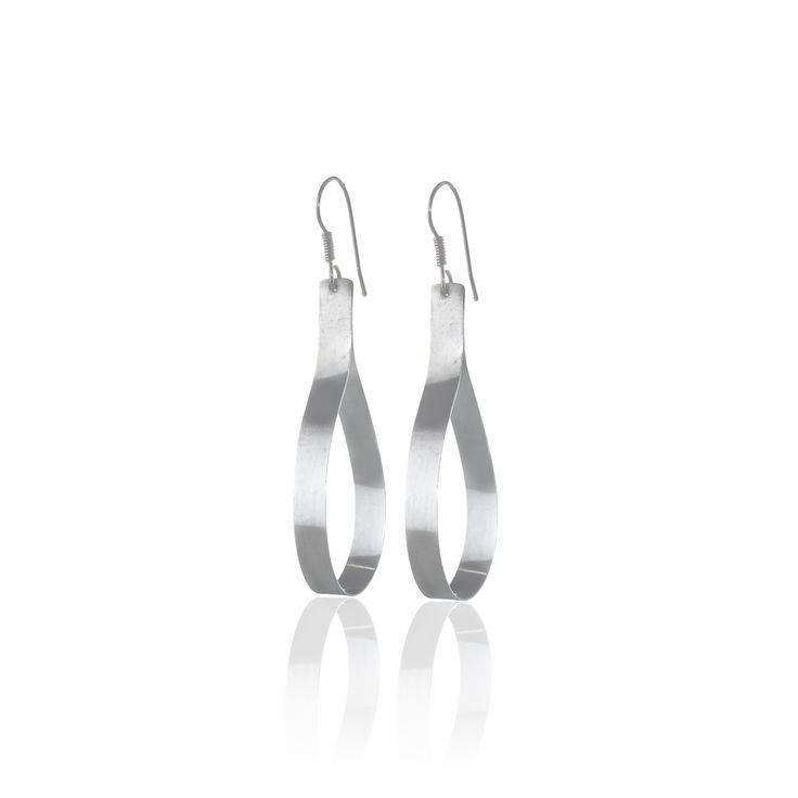 Hook on a hook silver earrings