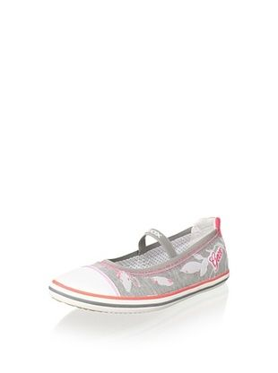 76% OFF Geox Kid's Kiwi Ballerina Flat (Light Grey)