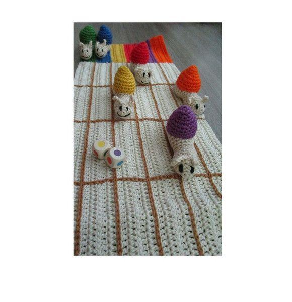 Brettspiele - Schneckenspiel  - ein Designerstück von Rasselbande-MelanieHechenberge bei DaWanda