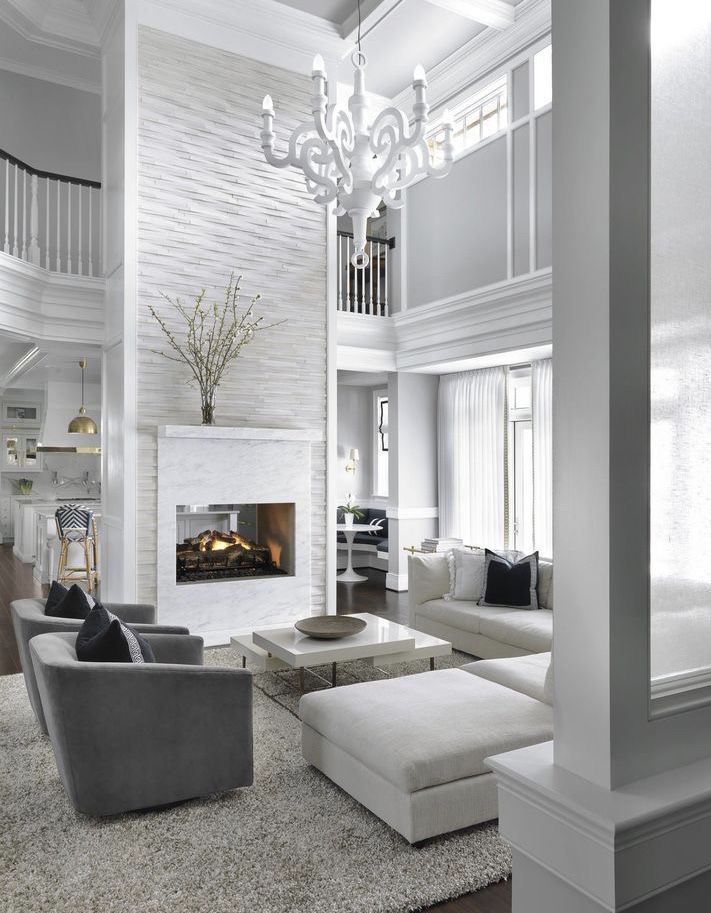 White Living Room Decor Contemporary Modern Swivel Chairs And White Sectional Sofa Whitedeco White Living Room Decor Elegant Living Room Decor Hamptons House #white #sectional #living #room #ideas