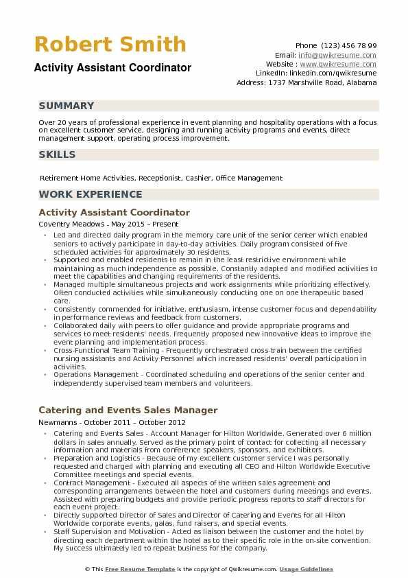 Resume Examples Activities Resume Examples Resume Summary