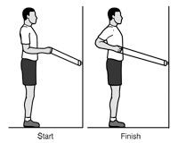 Standing Row  (Rotator Cuff and Shoulder Conditioning Program-OrthoInfo - AAOS)