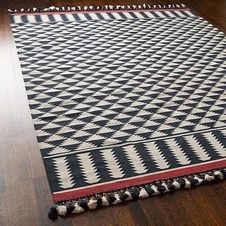rug with red trim