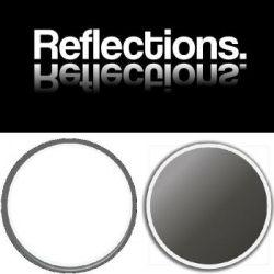 Reflections Splashback Panel 3100mm x 748mm SHEER BLISS WHITE / PEPPER