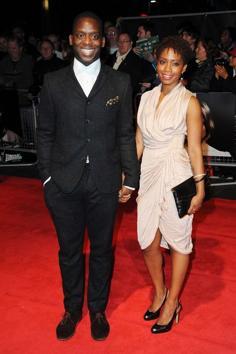 Kobna Holdbrook-Smith and guest at the London Film Festival premiere of The Double