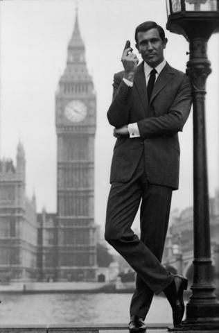 George Lazenby. Westminster Bridge, 1969.
