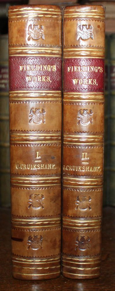 1845 The Works of Henry FIELDING Illustrations by George Cruikshank 2 Vols