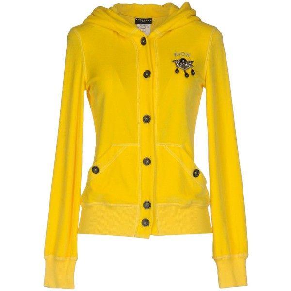 Richmond Denim Sweatshirt ($200) ❤ liked on Polyvore featuring tops, hoodies, sweatshirts, yellow, long sleeve sweatshirts, logo sweatshirts, richmond denim, yellow long sleeve top and yellow sweatshirt