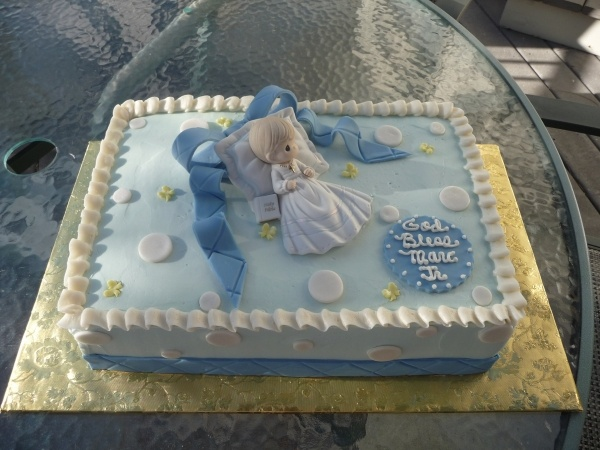 Precious Moments Babtism Cake