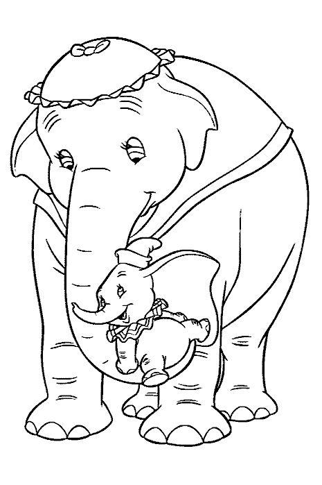 Djur Målarbilder för barn. Teckningar online till skriv ut. Nº 241