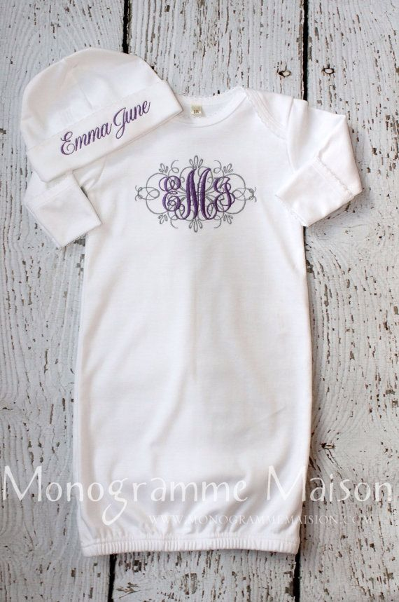2172 best embroidery and monograms images on pinterest baby burp baby girl coming home outfit newborn baby girl outfit monogrammed baby gift personalized baby newborn pictures outfit pima cotton negle Gallery