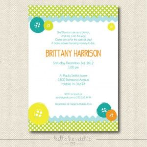 Cute As A Button Baby Shower Invitations | Shower That Baby