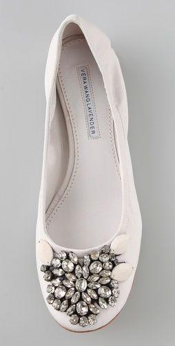 Vera Wang. Lexi Jeweled Ballet Flats