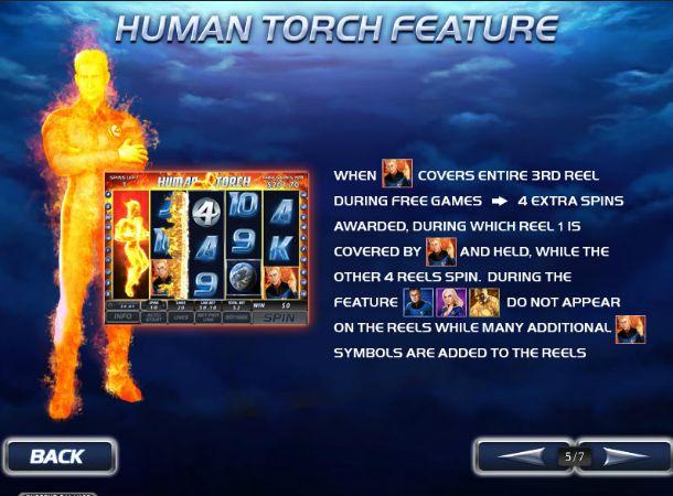 Бонусная игра человек факел