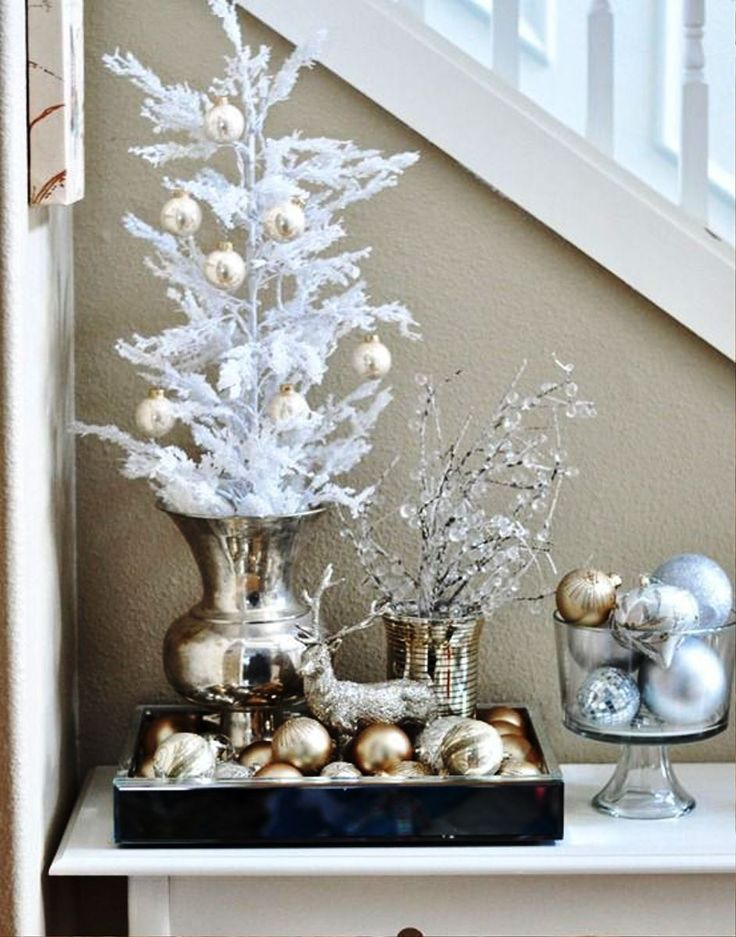 Gold and White Christmas Decor Ideas Real