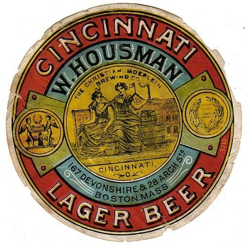 1880's Cincinnati Lager Beer Label  Inspiration for a label for my amber ale