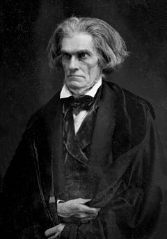 John Caldwell Calhoun (March 18, 1782– March 31, 1850) was a leading American politician and political theorist during the first half of the 19th century. Hailing from South Carolina, Calhoun began his political career as a nationalist, modernizer, and proponent of a strong national government and protective tariffs. After 1830, his views evolved and he became a greater proponent of states' rights, limited government, nullification and free trade; as he saw these means as the only way to…