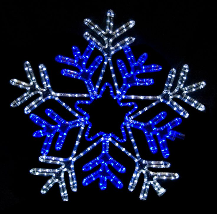 149 best outdoor christmas decorations images on pinterest led snowflake with blue center aloadofball Image collections
