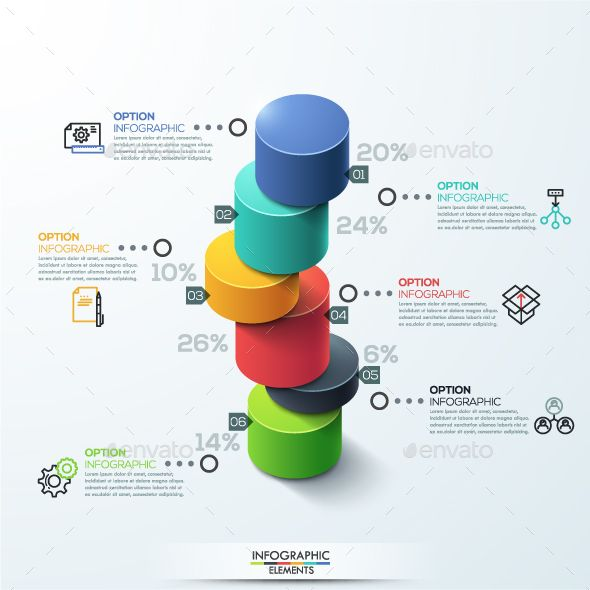 Modern 3D Style Cylinder Ladder Chart infographic Template PSD, Vector EPS, AI Illustrator