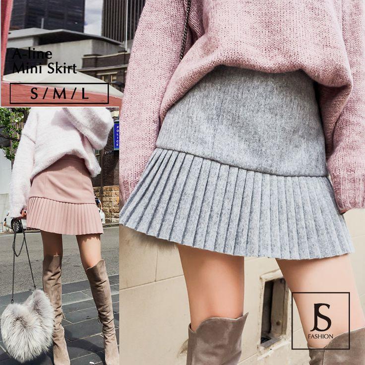 2色・ショート丈Aライン・起毛プリーツスカート・ミニスカート・グレー・ピンク・ボトムス・S/M/Lサイズ/大人可愛い/お出かけ/デート/フェミニン/デイリー/秋冬【180111】#JSファッション #大人カジュアル #秋冬ファッション #冬 #冬コーデ #ボトムス #スカート #ミニスカート #プリーツスカート #グレー #ピンク #フェミニン # #通学 #通勤 #魅了的 #大人可愛い #Sサイズ #Mサイズ #Lサイズ #サイズ展開 #大人コーデ #エレガント #愛されコーデ #かわいい #個性的 #お上品 #大人可愛い #デート #お出かけ #海外 #通販