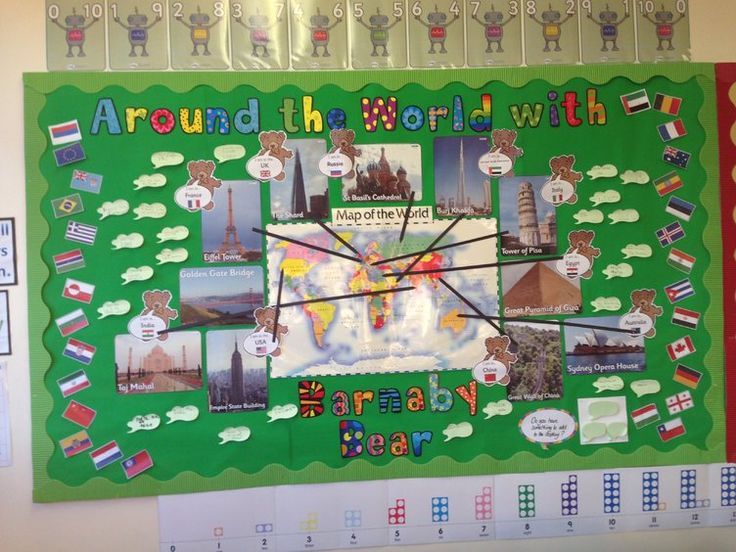 Geography, Around the World With Barnaby Bear, Barnaby Bear, World, Display, Classroom display, Early Years (EYFS), KS1 & KS2 Primary Teaching Resources